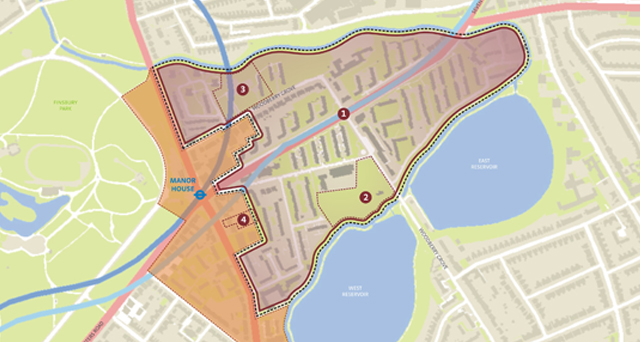 Woodberry Down Site Map
