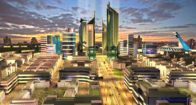 Central Business District 3D visualisation