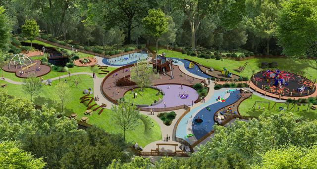 Saumarez Park Overview CGI