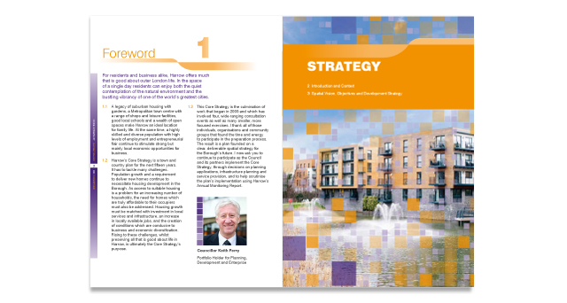 Harrow Core Strategy Spread