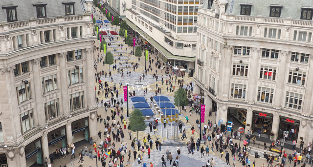 Oxford Street pedestrianised CGI