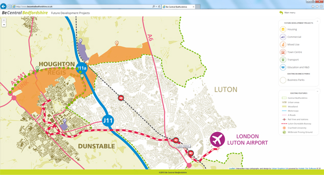 Central Bedfordshire Interactive Map