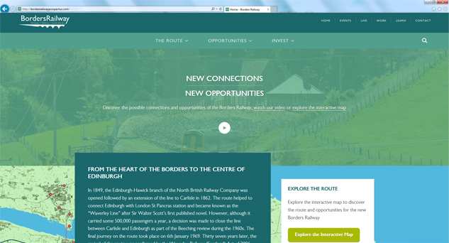 Scottish Borders Railway website